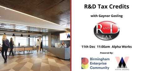 Workshop Series: R&D Tax Credits with Gaynor Gosling tickets