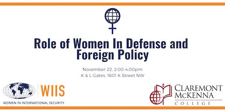 The Role of Women in Defense and Foreign Policy tickets