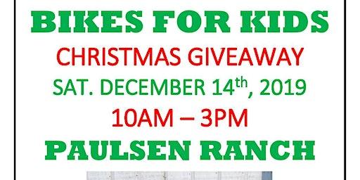 Pete Paulsen's Bikes For Kids Christmas Giveaway