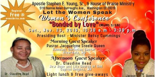 Let The Women Speak, Women's Conference