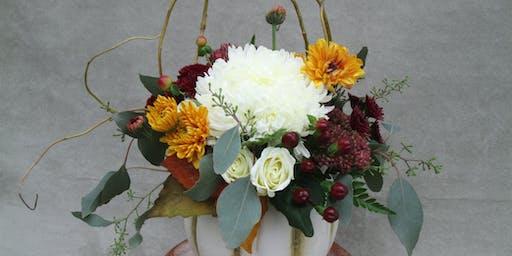 Ecker's Flowers Thanksgiving Centerpiece Design Class