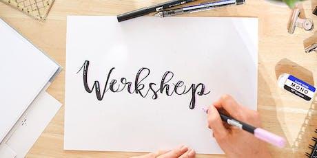 Workshop Handlettering & Brushlettering / Basic / Bensheim /Lettering / DIY Tickets