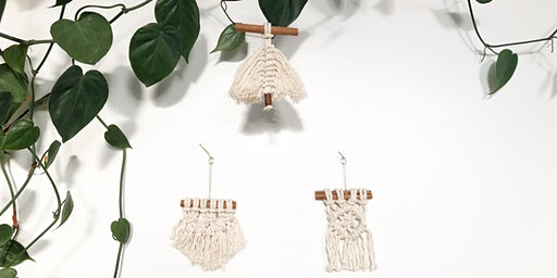 Mimosas and Macrame Ornament Trio (Adult Only, BYOB)