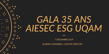Gala 35 ans AIESEC ESG UQAM billets