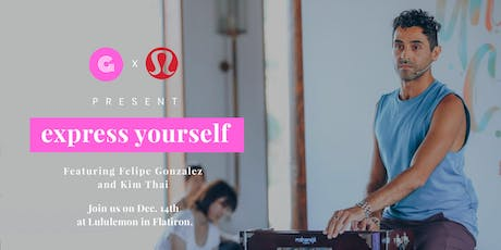 The #expressyourself workshop series  tickets