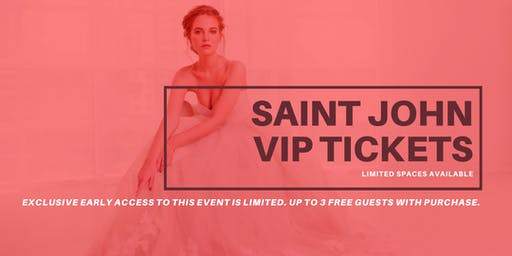 Opportunity Bridal VIP Early Access Saint John Pop Up Wedding Dress Sale