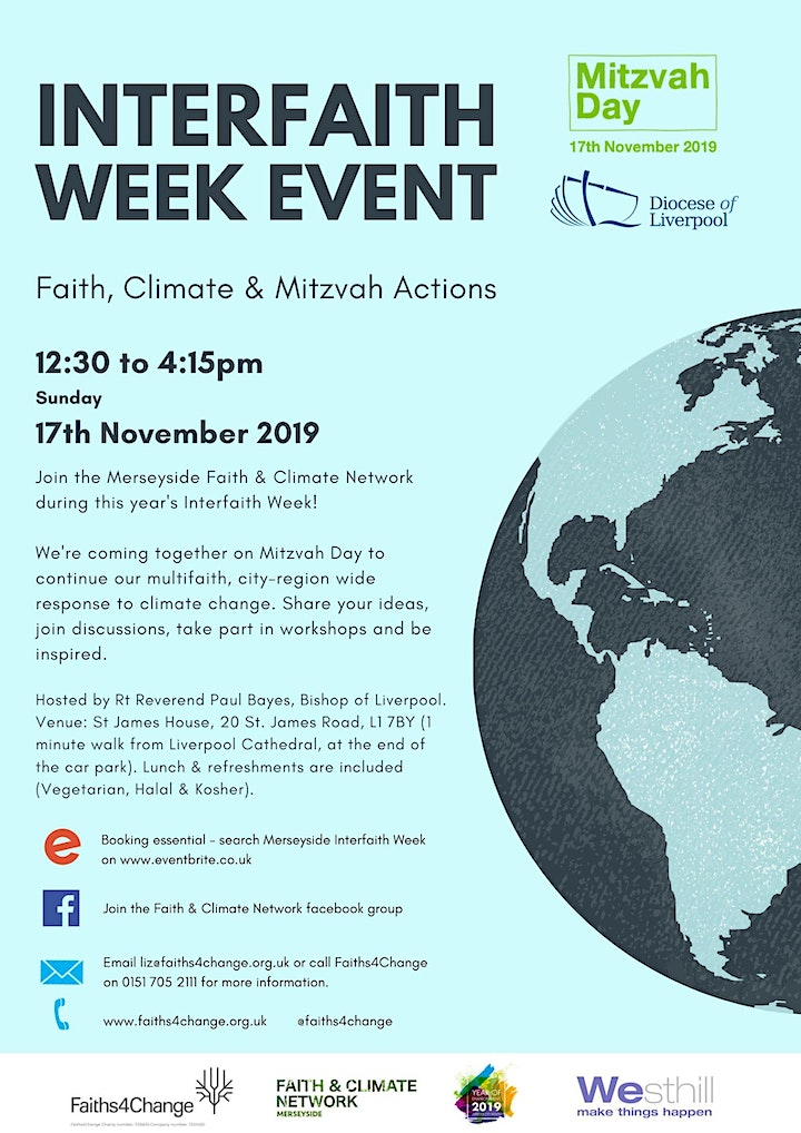 Merseyside Interfaith Week 2019 : Faith, Climate and Mitzvah Actions image