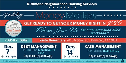 Holiday Money Matters  Series in North Richmond!