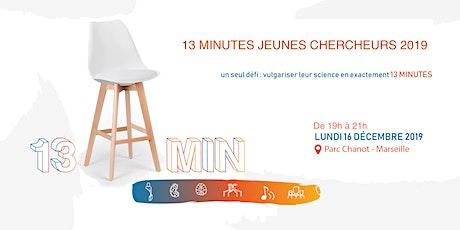 Treize Minutes Jeunes Chercheurs 2019 billets
