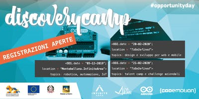 Discovery Camp - scopriamo il talento digitale #opportunityday