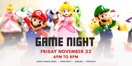 Game Night | November 22 tickets