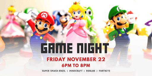Game Night | November 22
