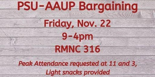 PSU-AAUP Bargaining - November 22
