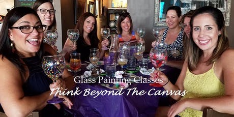 New Class! Join us for our Wine Glass Painting Party Workshop at 19th Hole Bar and Grill 12/12 @ 6pm tickets