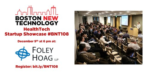 Boston New Technology HealthTech Startup Showcase #BNT108 (21+)