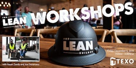 The Lean Builder: December Workshop tickets