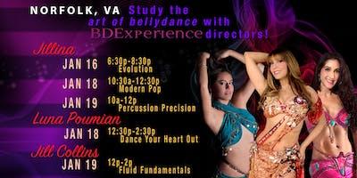 Jillina's BDEx Presents: Norfolk, VA Workshops with Jillina, Jill Collins & Luna