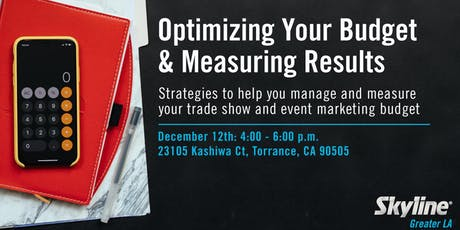 Optimizing Your Trade Show Budget & Measuring Results tickets