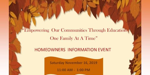 HOMEOWNERS INFORMATION EVENT