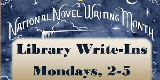 NaNoWriMo Library Write-Ins