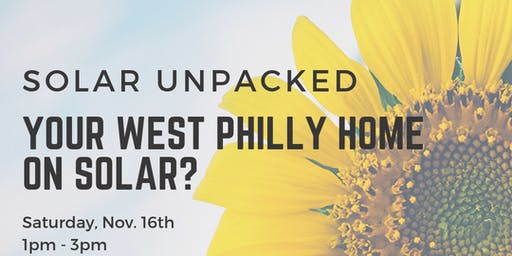 Your West Philly Home on Solar?