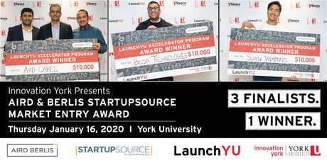 Aird & Berlis StartupSource Market Entry Award 2020 tickets