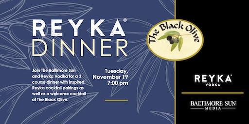 Reyka Dinner at The Black Olive