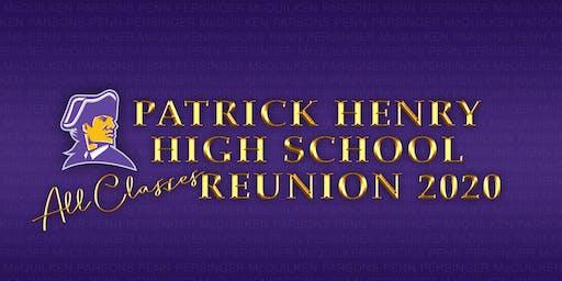 Patrick Henry High School All-Classes Reunion 2020