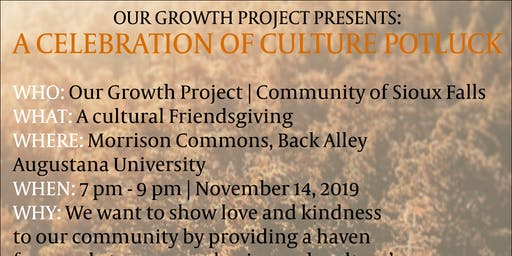 A Celebration of Culture Potluck |  Our Growth Project