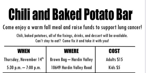 Chili/Potato Bar fundraiser for Lung cancer Research