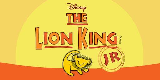 Lion King, Jr. - Sunday, June 28th, 2:00pm
