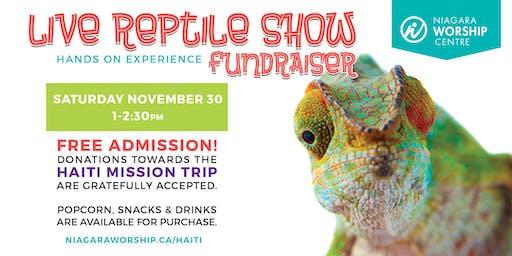 Live Reptile Show - Fundraiser for Haiti Mission Trip