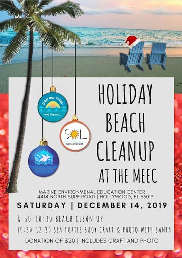 Holiday Beach Clean Up at the  Marine Environmental Education Center image