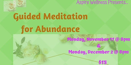 Guided Meditation for Abundance tickets