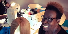 San Antonio TX | 27 Piece Enclosed Wig Making Class with Sewing Machine