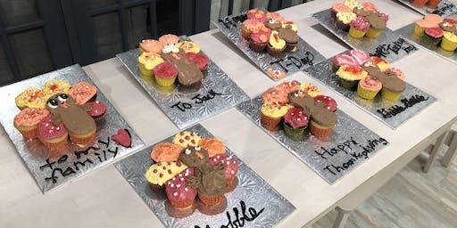 Turkey Cupcake Cake Class