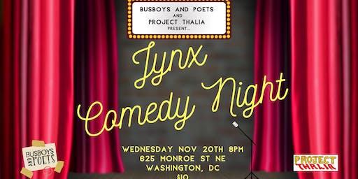 "Busboys and Poets presents ""JYNX"" Comedy Night | Brookland | November 20, 2019 | Hosted by Gigi Modrich"
