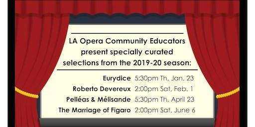 LA Opera Talk: Eurydice