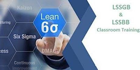 Dual Lean Six Sigma Green Belt & Black Belt 4 days Classroom Training in Texarkana, TX tickets