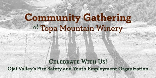Community Gathering for The C.R.E.W. at Topa Mountain Winery