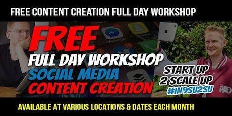 Content Creation StartUp2ScaleUp FREE WORKSHOP London #IN9SU2SU tickets