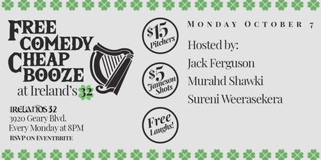 Free Comedy Night at Irelands 32 tickets