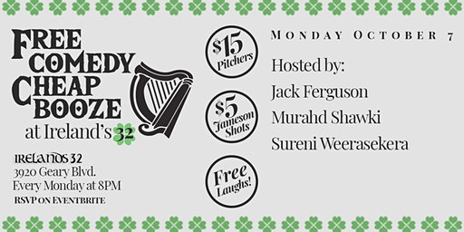 Free Comedy Night at Irelands 32