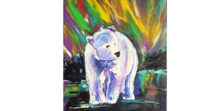 Aurora Borealis Spirit Bear Paint & Sip Night - Art Painting, Drink & Food tickets