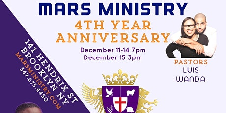 4th Year Anniversary @marsministry- December 11, 12, 13, 14 & 15 tickets