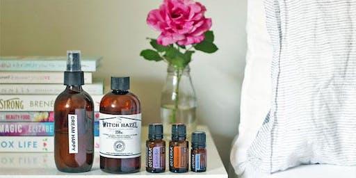 Women's wellness and essential oils.