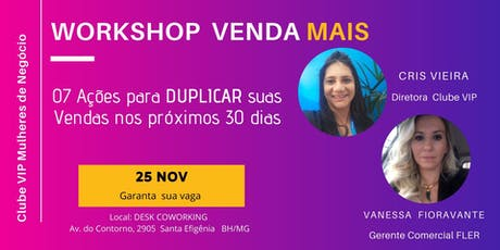 Workshop  - Venda Mais ingressos