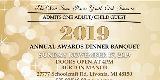 WEST 7 RAMS YOUTH CLUB 2019 ANNUAL AWARDS BANQUET