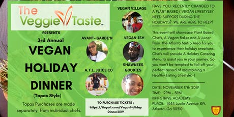 Vegan Holiday Dinner - 3rd Annual tickets