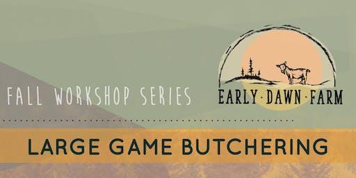 Butchering Large Game